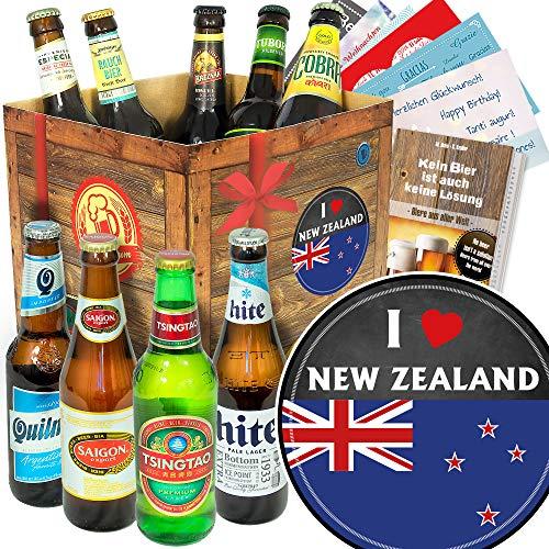 I love New Zealand/Neuseeland Geschenk/Bierbox Biere der Welt