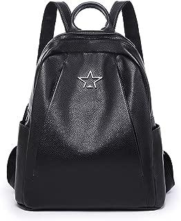 Kenoor Black Women's Backpack Casual Daypack Double Shoulder Bag for Ladies and Girls (Black)
