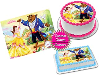 Beauty and the Beast Edible Image Icing Frosting Sheet #26 Cake Cupcake Cookie Topper Sugar Sheet (1/4 Quarter Sheet - 8.5x11