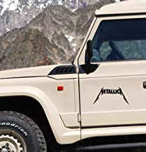 pegatinas de coches 20Cm X 10Cm Car Styling Metallica Decal Jdm Car Window Bumper Truck Decal Personality Car Sticker Graphics