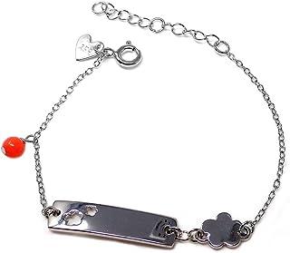 Silver Bracelet Agatha Ruiz De La Prada 14cm. Flower Plate [Ab5667]