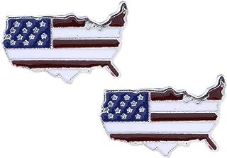 Amosfun Amerikanische Flagge Halskette patriotische h/ängende Anh/änger Hundemarke Anh/änger