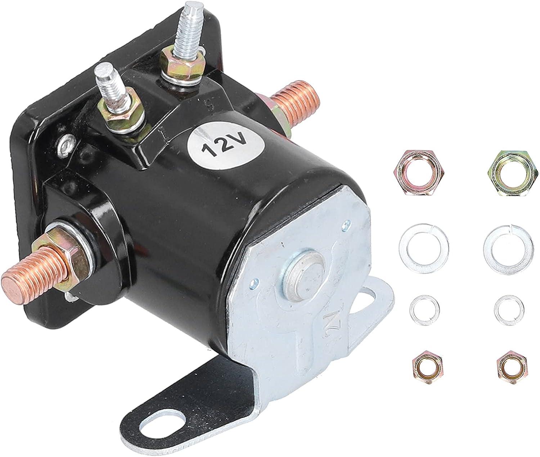 Relé de arranque DC Contactor SW-3 Motor Interruptor magnético Relé 12V DC Base plana con arandela de tuerca para OMC JOHNSON 35 35HP 1976-2001