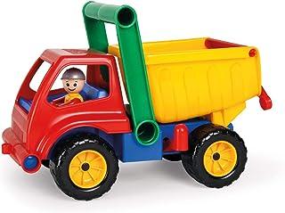 Lena 04350 Aktiv, konstruktion ca 27 cm, handtagsfigur, dumptrucksset, lekfordon för barn från 2 år