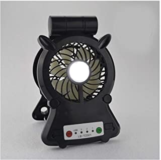 HAIMEI-WU Adjustable Angle Table Fan USB Portable Desktop Round Galvanic Fan Led Promiscuous Phone Holder Fans Home Mini Electric Fan (Color : 04)
