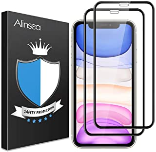 Alinsea [2-Pack] Screen Protector for iPhone 11/iPhone XR [Full Coverage] [Case Friendly] 9H 3D Tempered Glass [Face ID Co...
