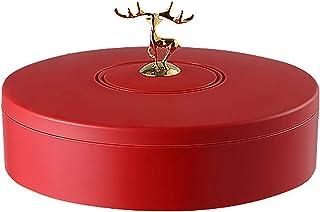 PABESAM Boîte de rangement circulaire vintage pour fruits secs, panier de rangement pour bonbons, plateau organiseur pour ...