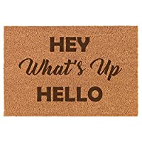 Daylor Coir Door Mat Entry Doormat Hey What's Up Hello