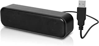 مكبر صوت للكمبيوتر يعمل بمنفذ يو اس بي، ساوند بار محمول، مكبرات صوت سطح مكتب ميني ستيريو سلكية، خاصية توصيل وتشغيل، متوافق...