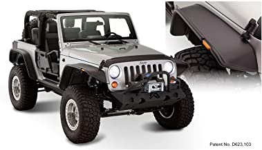 Bushwacker 10919-07 Jeep Flat Style Fender Flare - Set of 4
