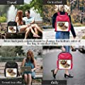 Colorful Bear with Handwritten Words Wild Soul,Leather Sports Bag Forest Animal Tote ?for Women 15IN
