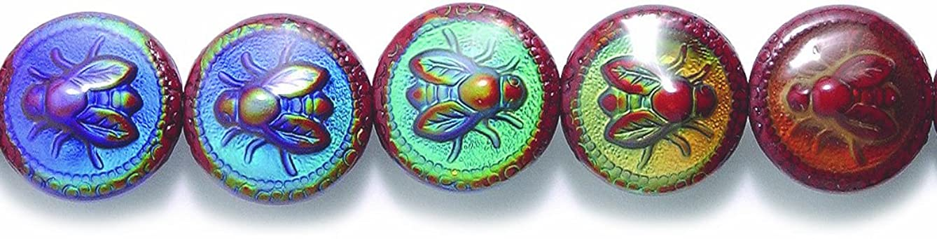 Shipwreck Beads Mirage Polymer Color Change Bee Lightful Disc Mood Beads, 19mm, 2-pack