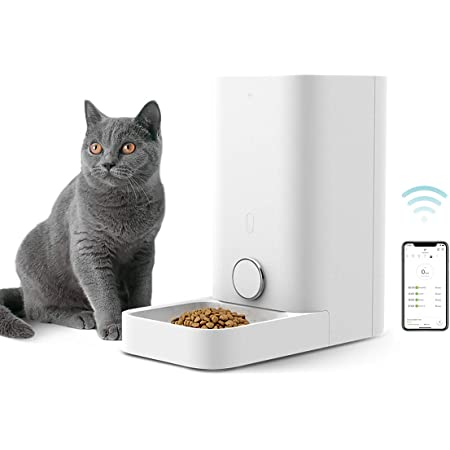 PETKIT Automatic Cat Puppy Feeder, App Control, 10 Portions,10 Meal Plans per Day, Low Food LED Indicator Pet Smart Feeder for Small Animals, Auto Pet Food Dispenser