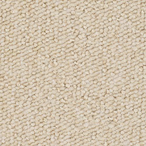 Schlingen-Teppichboden in der Farbe Hellbeige | weiche & strapazierfähige Auslegeware | zugeschnittener Bodenbelag | Meterware in der Größe 100 x 400 cm | gemütlicher Teppich Auslegeware