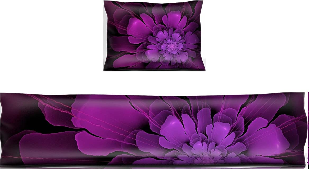 Luxlady Mouse Wrist Rest and Keyboard Pad Set, 2pc Wrist Support IMAGE ID: 34533947 purple transparent 3d fractal flower ornament srohcskpko16