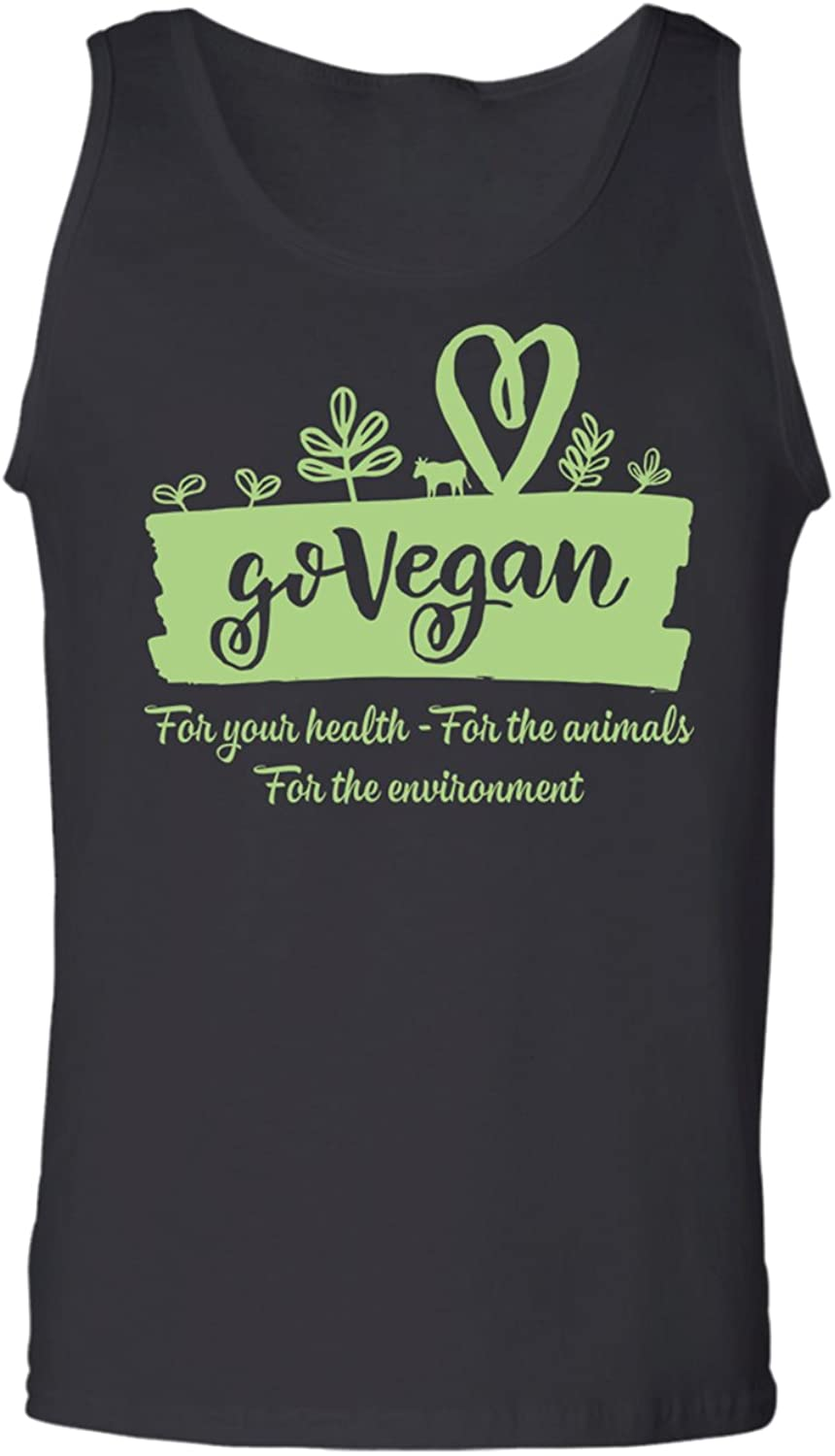 - Teechopchop Go Go Go Vegan for Your Health Animals Enviroment Vegeta Tank Top 967e06