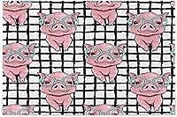 Toprintかわいい貯金箱の格子縞のジグソーパズル大人の子供豚動物の床のパズル10代の子供のための創造的な教育玩具ゲームに挑戦する500個のギフト
