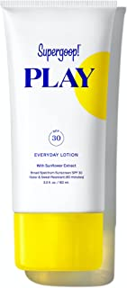 Supergoop! PLAY Everyday SPF 30 Lotion, 5.5 oz - Reef-Safe, Broad Spectrum Sunscreen for Sensitive Skin - Water & Sweat Resistant Body & Face Sunscreen - Clean ingredients - Great for Active Days