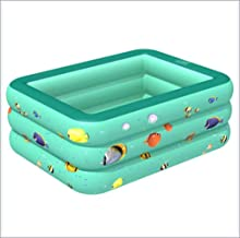 Inflatable pool Family Inflatable Paddling Pool Swim Center Aquarium Inflatable Pool Family Fun Lounge Pool for Outdoor Garden (130 * 85 * 50Cm),Green
