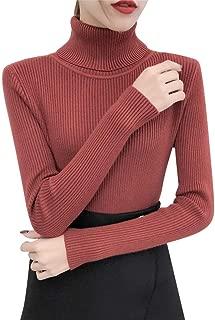 Bravetoshop Winter Sweater, Fashion Women Turtleneck Long Sleeve Pullover Knitting Basic Tops