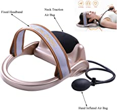 Portable Neck Cervical Pneumatic Vertebra Tractor Pillow Inflatable Cervical Traction Device Neck Massage Neck Spine Posture Traction Instrument Pain Relief (Manual Type)