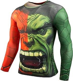 Long Sleeve Incredible Hulk Dri-Fit Compression Gym Workouts Shirt