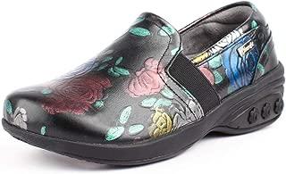 Annie Women's Slip Resistant Leather Slip On - for Plantar Fasciitis/Foot Pain