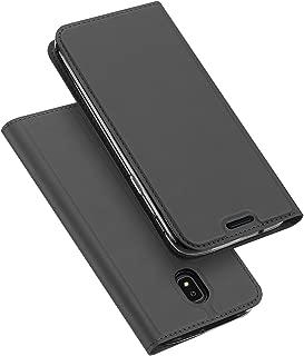 Samsung Galaxy J3 2018 Case,Galaxy J3 Star / J3 Eclipse 2 / J3 Orbit / J3 Achieve / J3 Express Prime 3 / J3 Prime 2 / Amp Prime 3 / J3 Emerge 2018 Case,DUX DUCIS PU Leather Flip Folio Case (Gray)