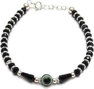 DARSHRAJ 925 Pure Silver Blue Evil Eye Nazariya Bracelet For Women/Girls