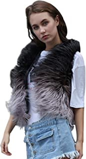 Simsly Autumn Fur Vest Sleeveless Lightweight Faux Fur Vests Winter Warmer Jacket Coat for Women and Girls(Multicolor)