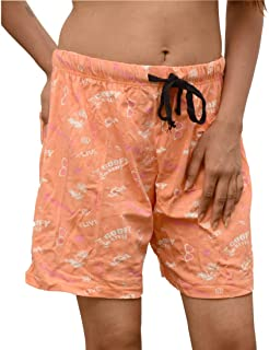 ALBATROZ Summer Women 100% Cotton Shorts Fruits Printed Casual Use Elastic Waist Short Pants Night wear for Girls and Women Aged (10-28yrs) Waist Inches M : 24/28 L :30/34 XL :34/36