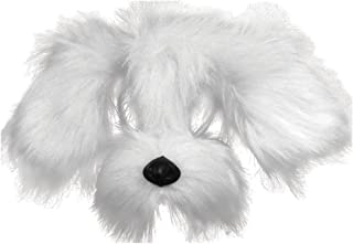 Bristol Novelty EM358 Shaggy Dog Mask with Sound On Headband, White, One Size