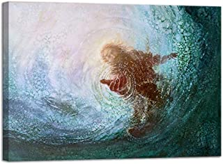 VIIVEI Jesus Wall Art Christ Poster Canvas Prints God Home Decor for Bedroom Living Room Pictures Decals HD Printed Painting Artwork Framed Ready to Hang (16