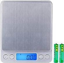 Zacro Báscula Cocina de Presisión Digitales,500g x 0.01g Báscula Balanzas de Alta Precisión,Balanzas Multifuncionales Pro Peso Cocina para Comidas,Joyería,Pantalla LCD,2 Bandejas y Baterías Incluidas
