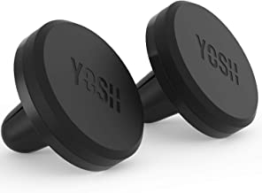 YOSH Magnetic Phone Car Mount (Pack of 2) Universal Air Vent Car Phone Mount Magnet Cell Phone Holder Cradle Compatible with iPhone 11 8 7 Xs Max X XR Samsung Galaxy S10 S9 Moto G6 Nokia LG BLU Xperia