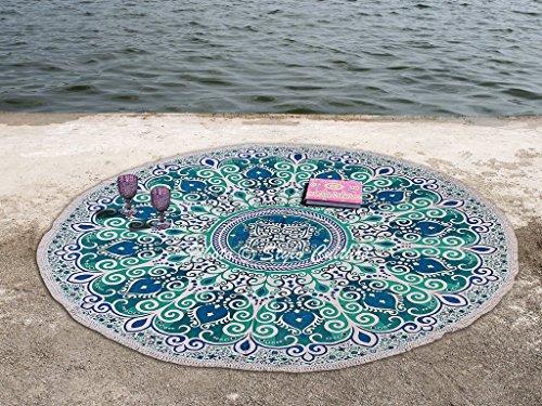 Stylo Culture Indien Rondie Mandala Jeter Floral Vert Bleu 72\