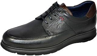 Fluchos | Zapato de Hombre | Zeta F0602 Soft Negro Zapato | Zapato de Piel de Vacuno de Primera Calidad | Cierre con Cordo...