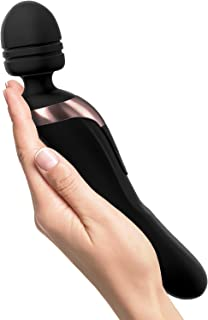 Therapeutic Massager Handheld Cordless WAND - Powerful 8 Speeds 20 Vibrating Patterns - USB Rechargeable - Magic Recovery Effect for Body - Back Neck Shoulder Feet - Rose red