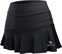 CAMELSPORTS Women Casual Active Sport Skirt Tennis Golf Skorts Pleated for Athletic Running Workout with Built-in Shorts