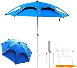 Patio paraplu, draagbare visparaplu Tuinparasol Buiten Strandparasol Kantelbare parasol UV-bescherming waterdicht Geschikt...