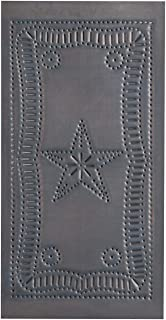 Irvin's Country Tinware Small Vertical Federal Panel in Blackened Tin