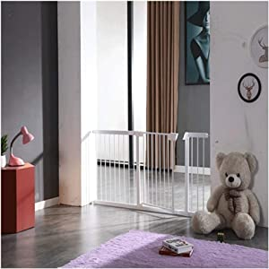 Extra Wide Baby Safety Gates Expandable Adjustable Dual Lock Kids Bed Rails Auto Close Pressure Mounted Walk Through For Bottom Top Stairs Doorways  Color High76cm  Size Width173-180cm