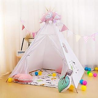 QINAIDI tipitält för inomhus eller utomhus, robust och säker barnlekställe, indianspel, prinsessa slott spel