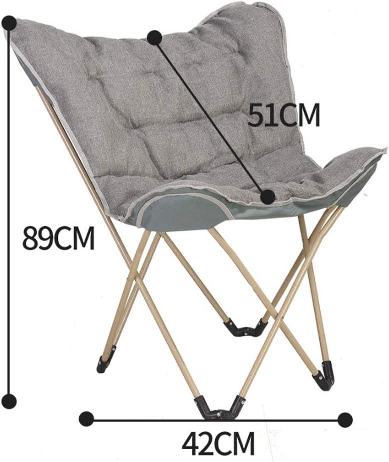 Chaise Longues Portable Saucer pliant rembourré Lune Chaise Confort Salon Chambre Meubles de jardin Camping (Color : G) C