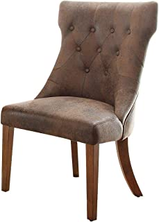 Home Elegance 2526S Marie Louise Side Chair in Weathered Oak - Set of 2