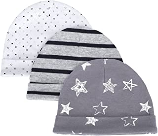 LACOFIA Sombrero de Beanie de algodón para bebé niñas y niños de recién Nacido Unisex Gorro Nudo de Las bebé de Esencial 3...