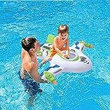 Flotador inflable gigante para piscina con forma de nave espacial para adultos y niños, juguete flotante con forma de avión para montar en la piscina con asas duraderas, ideal para fiestas en la playa