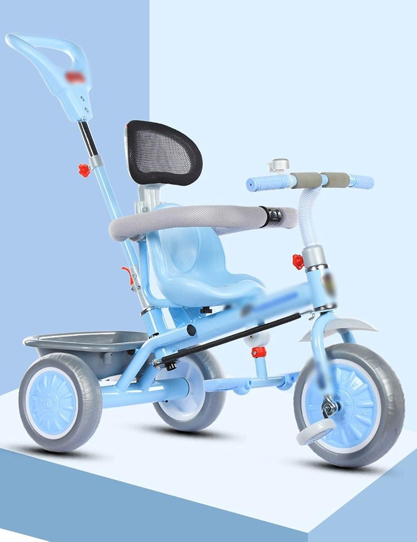 Dreirad-einzelner Rod-Umweltschutz Der Kinder Schumender Rad Laufkatze 1-5 Jahre Altes Fahrrad (Farbe   Blau)