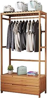 QNDDDD Portemanteau, Porte-Manteau Porte-Manteau Multi-Fonctionnel, Vêtements Rack Antichambre Hanger Bamboo Affichage À P...