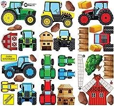 Medium Vinilo Removible Brillante GET STICKING DECOR/® Tractores /& Cavador Pegatinas De Pared// Calcoman/ías Colecci/ón ToonTractors Trac.4 Multi Color.